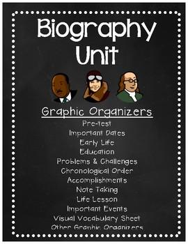 Biography Unit Graphic Organizers