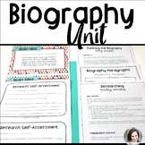 Biography Research Unit - Reading and Writing Workshop Lessons