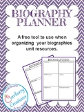 Biography Unit Resource Planner Freebie