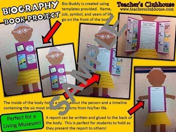Biography Unit from Teacher's Clubhouse
