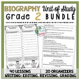 Biography Unit of Study: Grade 2 BUNDLE