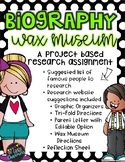 Biography Wax Museum Research Project