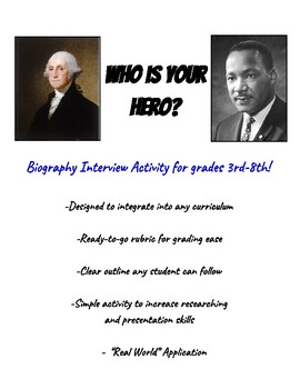 Biography Who Is My Hero? Activity