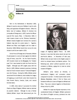 Biography: William III