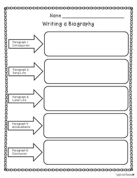 Biography Writing for Common Core