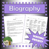 Biography Writing Activity + Rubric