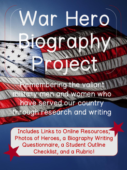 Biography Writing of American War Heroes & Heroines! {Veterans & Memorial Day}