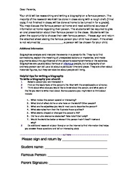 Biography Writing Assignment