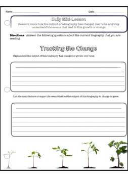 Biography Writing Frame Mini Writing Unit (Over 30 Related Worksheets)
