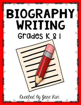 Biography Writing Grades Kindergarten and 1