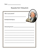 Biography Writing Graphic Organizer