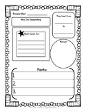 Biography Writing Graphic Organizer FREEBIE