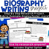 Biography Project Template for Research | End of Year Writing Activities