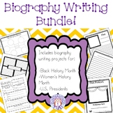 Biography Writing Projects Bundle