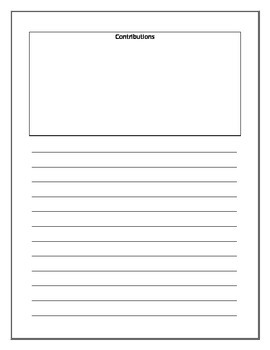 Biography Writing Template/ Biography Research