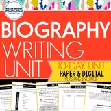 Biography Writing Unit:  Biographical Sketches about Peers (Google-Compatible)
