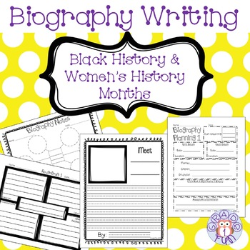 Biography Writing for Black History Month and Women's History Month