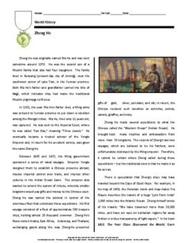Biography: Zheng He