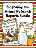 Biography and Animal Research Projects - Bundle