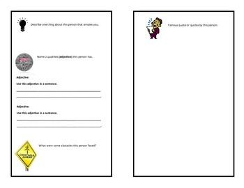 Biography and Autobiography Booklets Common Core Aligned