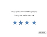 Biography and Autobiography Compare and Contrast
