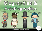 Biography and Autobiography One Week Wonders Bundle