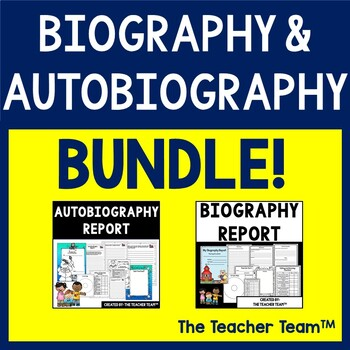 Biography and Autobiography Research Report Bundle
