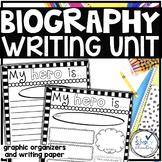 Biography Writing & Hero Writing- graphic organizers and w
