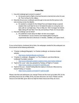 Biography and Response Activity: Charles Lindbergh