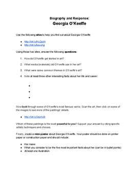 Biography and Response Activity: Georgia O'Keeffe