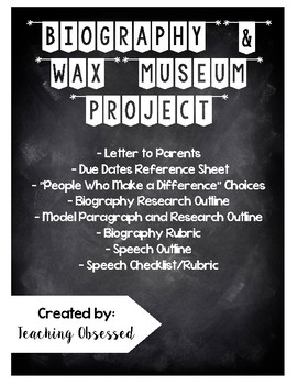 Biography and Wax Museum Project