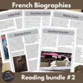 Biography bundle #2 - for intermediate/advanced French learners