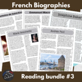 Biography bundle #3 - for intermediate/advanced French learners