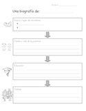 Biography graphic organizer in Spanish