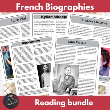 Biography megabundle - for intermediate/advanced French learners