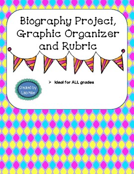 Biography mobile, graphic organizer, and rubric