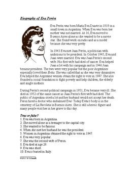 Biography of Eva Perón