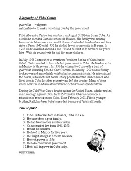 Biography of Fidel Castro