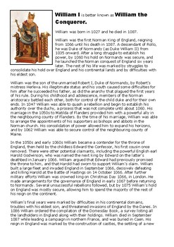 Biography of William the Conqueror