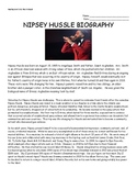 Biography on Nipsey Hussle