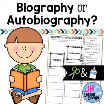 Biography or Autobiography? Cut and Paste Sorting Activity