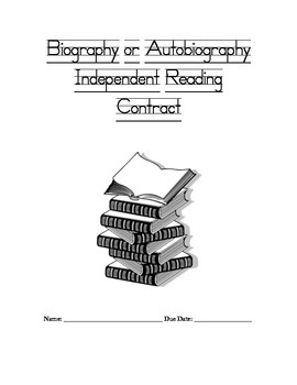 Biography or Autobiography Independent Reading Contract