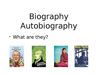 Biography or Autobiography: What Are They?