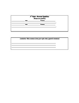 Biography research report template