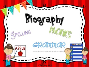 Biography {spelling, grammar, and phonics practice}
