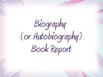 Biography/Autobiography Creative Book Report