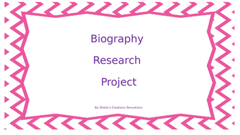 Biogrpahy Research Project
