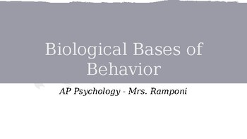 Biological Basis of Behavior and AP Psychology - Neurons & Neurotransmitters