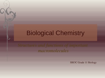 Biological Chemistry PowerPoint