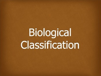 Biological Classification Powerpoint
